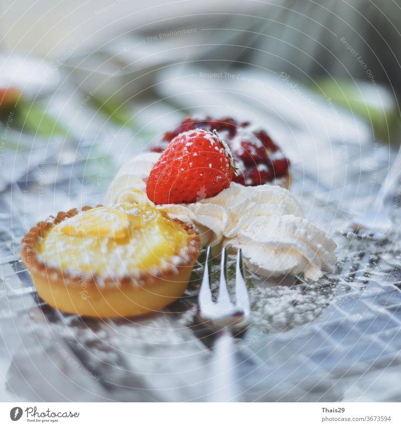 lemon lime strawberry bakery cake cream sweet dessert on plate cheesecake piece baked breakfast food fruit gourmet fresh tasty background delicious custard