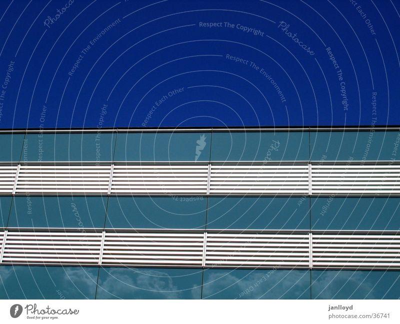 Sky Blue Architecture Facade Modern Stripe