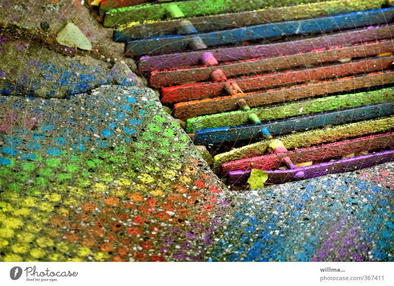 Colour Dye Funny Lifestyle Art Crazy Creativity Uniqueness Play of colours Innovative Colour palette Doormat Prismatic colors Grating Metal grid