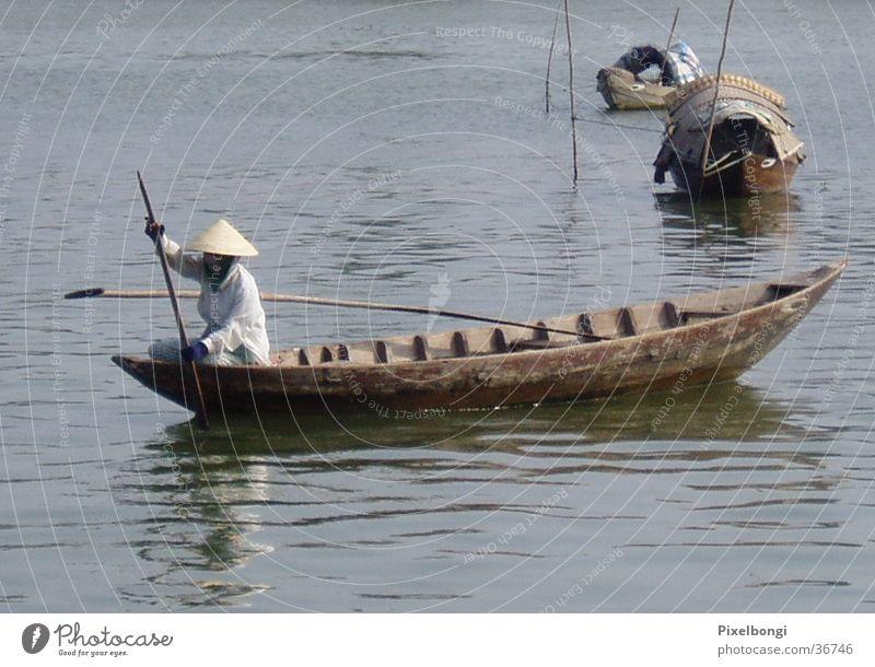 Vacation & Travel Calm Poverty River Wanderlust Fisherman Vietnam
