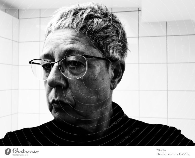 Old is old, she sighed and turned away from her reflection, and yet, I was allowed to live a long time. Woman portrait Wrinkle Human being Face Eyeglasses