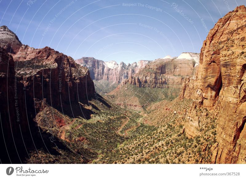set your eyes to zion. Landscape Loneliness Zion Nationalpark Zion Canyon USA Utah Mountain Rock Far-off places Vacation & Travel Vantage point Sandstone Desert