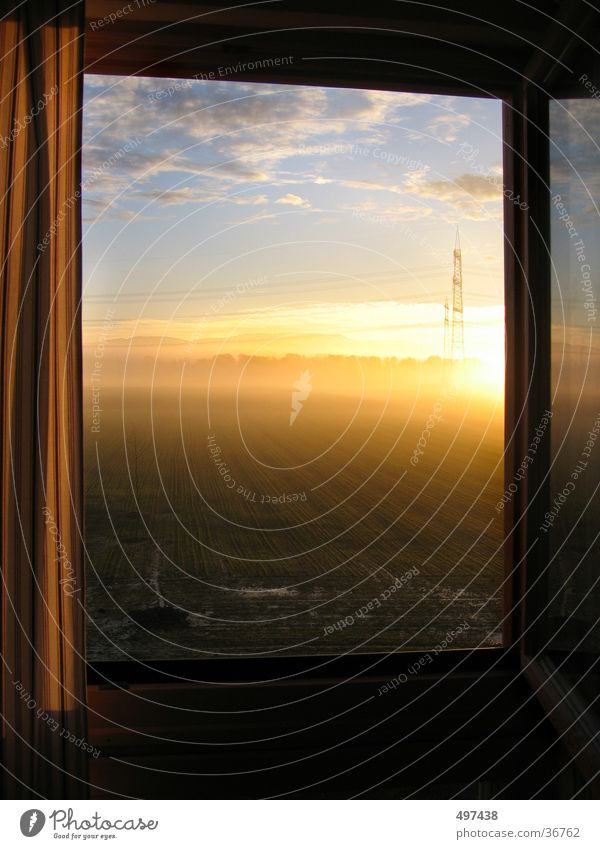 in the morning at the window Window Sunrise Black Forest Morning Dawn open window