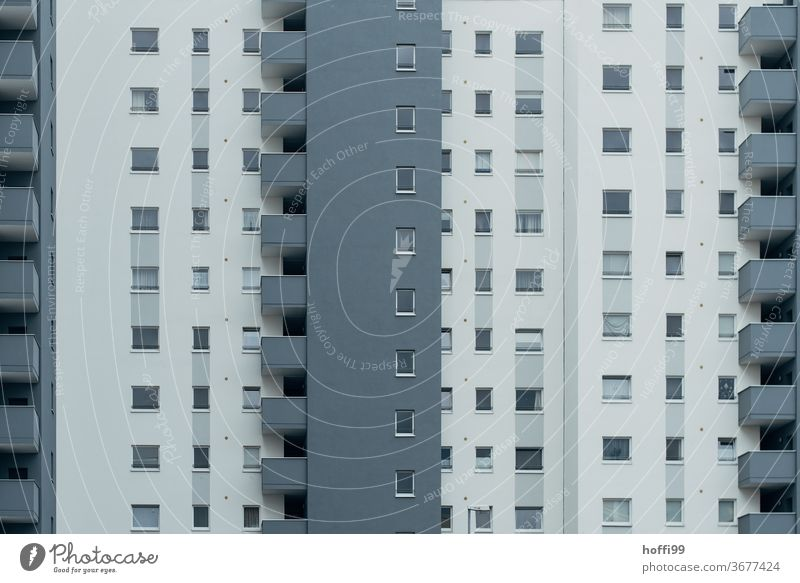 Tristesse of orderly monotony - serial living Balcony Modern Facade post-war architecture High-rise Apartment Architecture Poverty structure Manmade structures