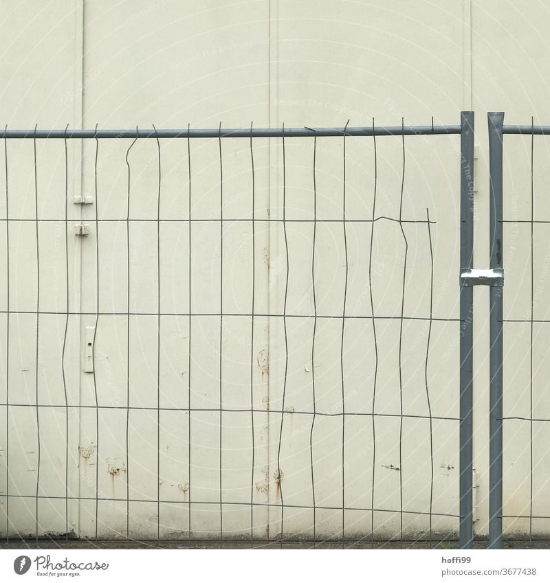 Crash barriers with deficits - everything has an end Protection Fence Grating Metalware Barrier Hoarding lattice fence cordon Fenced in no passage