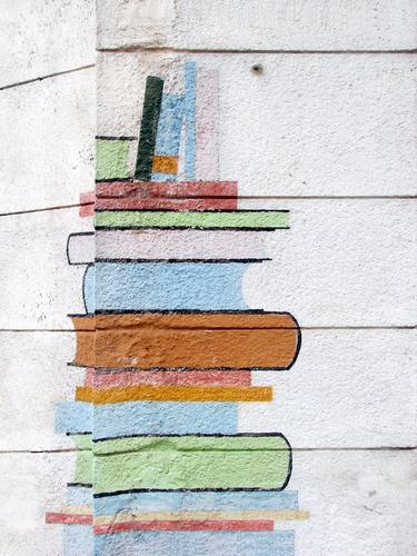 Wall (building) Wall (barrier) School Facade Book Study Reading Education Media Adult Education Print media File Library Literature Fiction