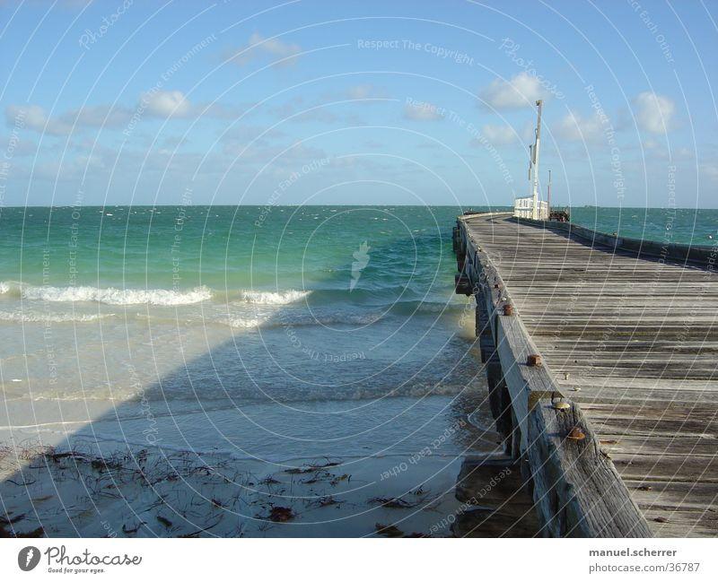 Ocean Wood Coast Footbridge Jetty Australia