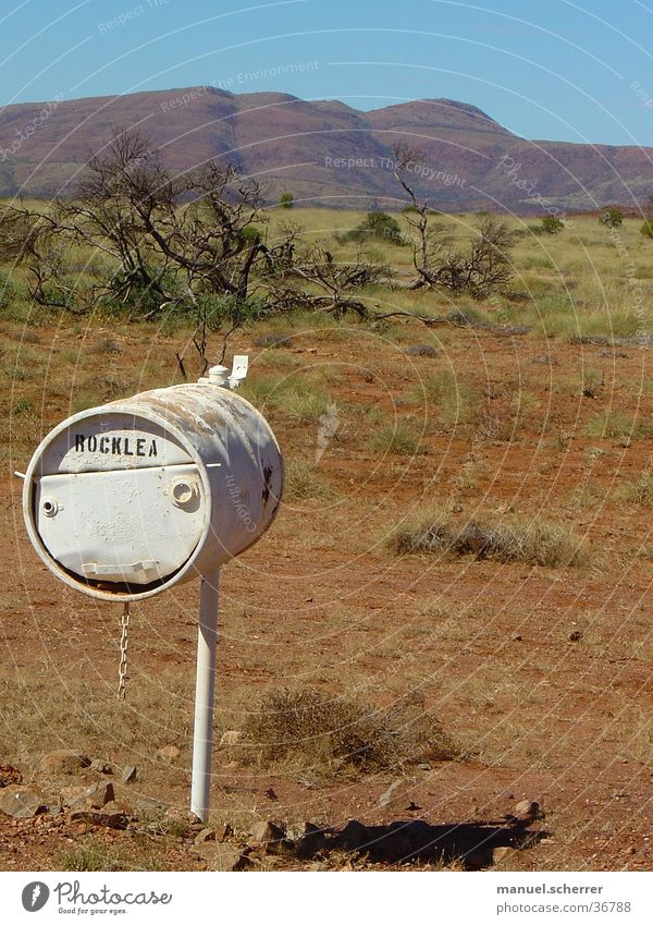 Loneliness Far-off places Farm Australia Mailbox Outback