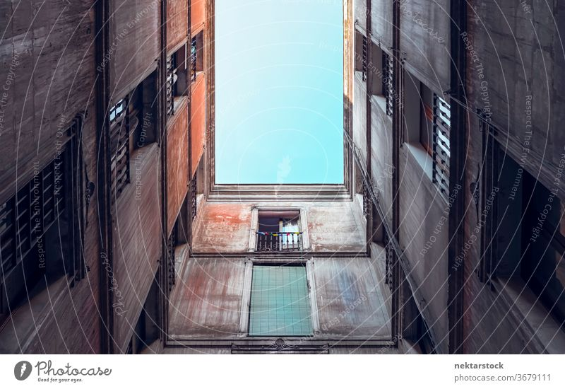 Old Residential Apartment Building Architecture building apartment facade old directly below residential window narrow geometrical pattern no people nobody