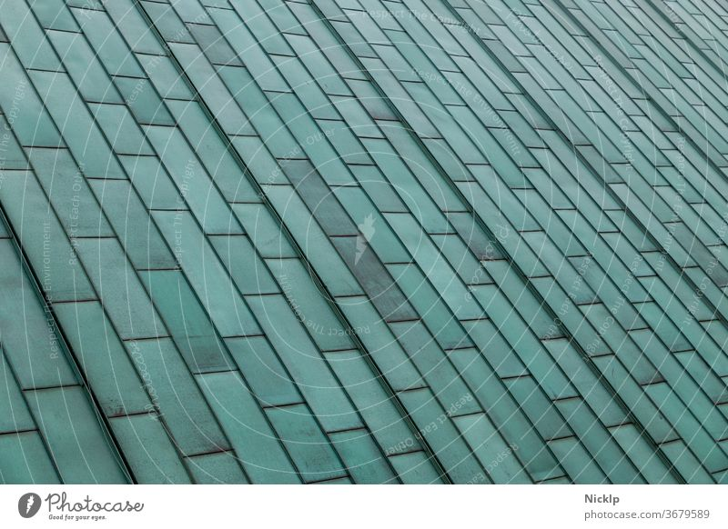 Copper roof with verdigris patina of rectangular copper sheets Patina Verdigris Weathered Structures and shapes Architecture architectural photography Facade