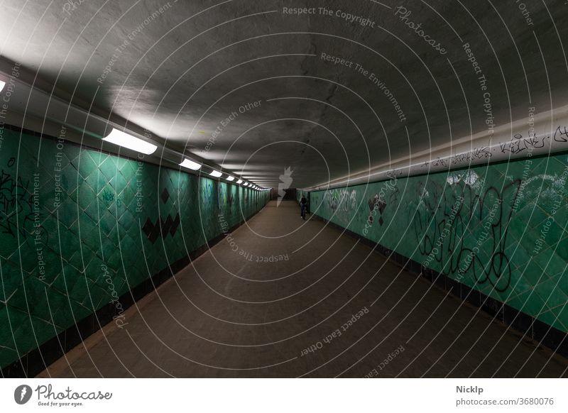 Friedrichshagen Spree Tunnel - pedestrian tunnel on the Great Müggelsee, Berlin Friedrichshagen / Köpenick Underpass köpenick Großer Müggelsee Lake Lake Muggle