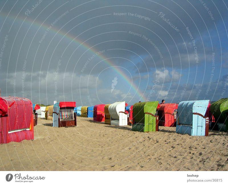 Sky Beach Clouds Rain Moody Rainbow Beach chair Fohr