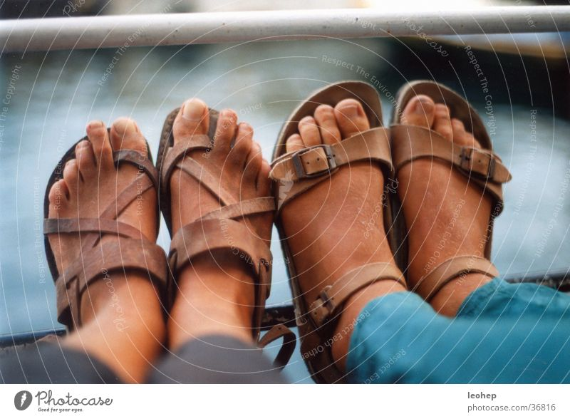 dirty feet Sandal Dirty Vacation & Travel Human being Feet brown skin ship's railing