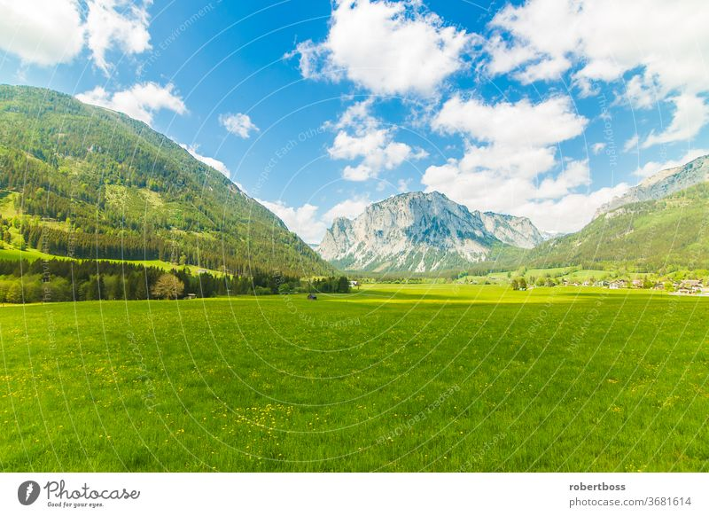 View of the Hochschwab Mountains in Styria alps mountains austria europe hochschwab mountain styria tourism travel