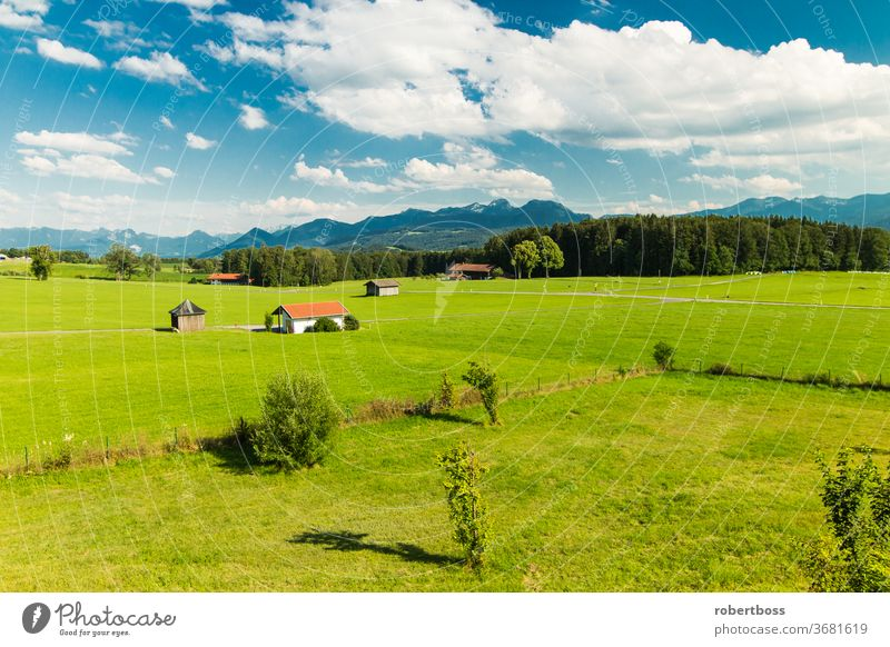 View of the Alps in Bavaria Germany landscape germany mountains outdoors bavaria nature scenic summer bavarian alps beauty in nature travel destinations