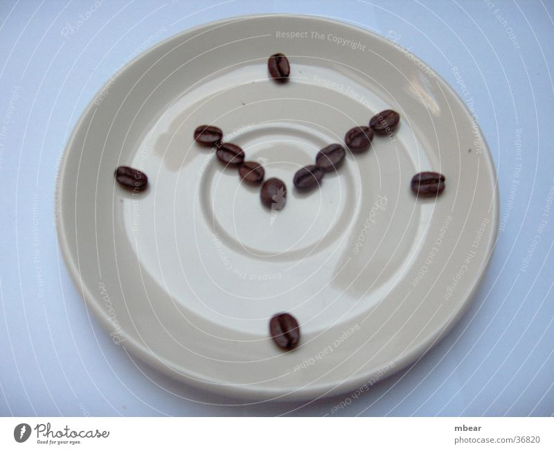 Time Clock Coffee Café Saucer Coffee bean Crockery