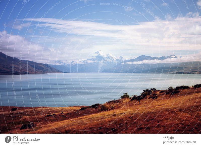 land of blue lakes. Landscape Mountain Peak Snowcapped peak Lake Wanderlust New Zealand Mount Cook Mount Cook National Park lake pukaki Mountain lake Alps