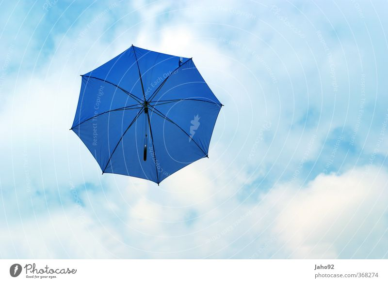 blue umbrella Lifestyle Water Drop Flexible Ease Rainwater Umbrella Protection Sky Sky blue Blue Summer vacation Summery Vacation & Travel Colour photo