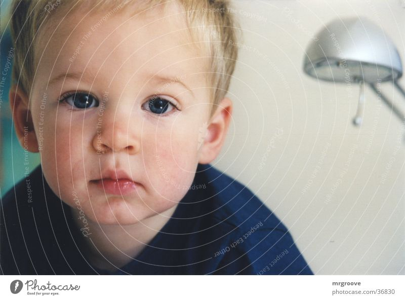 child Boy (child) Think Child Face Blue promotional Ask