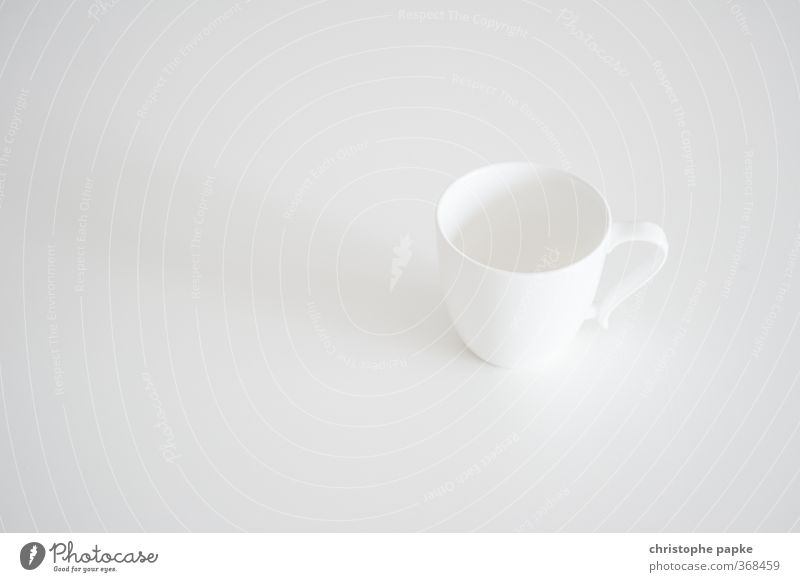 porcelain Breakfast To have a coffee Crockery Cup Living or residing Simple White Fragile Empty Object photography Colour photo Black & white photo