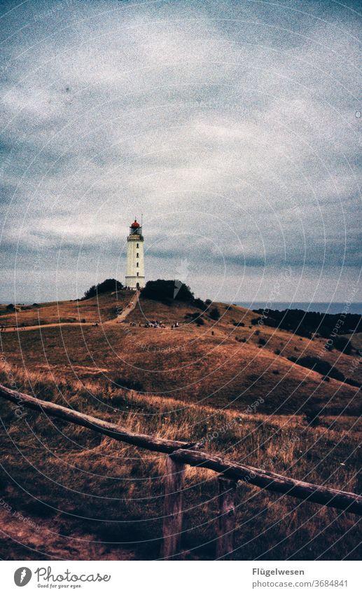 Cape Arkona Cap Arcona Lighthouse Lighthouse operator Lighthouse in the fog Rügen bridge of reprimands Island Ocean Baltic Sea Tourists vacation Illuminate