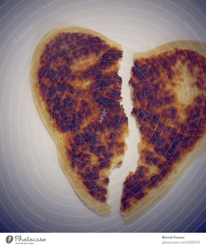 Black Yellow Love Brown Heart Broken Cooking & Baking Relationship Crack & Rip & Tear Argument Distress Divide Dough Past Disappointment