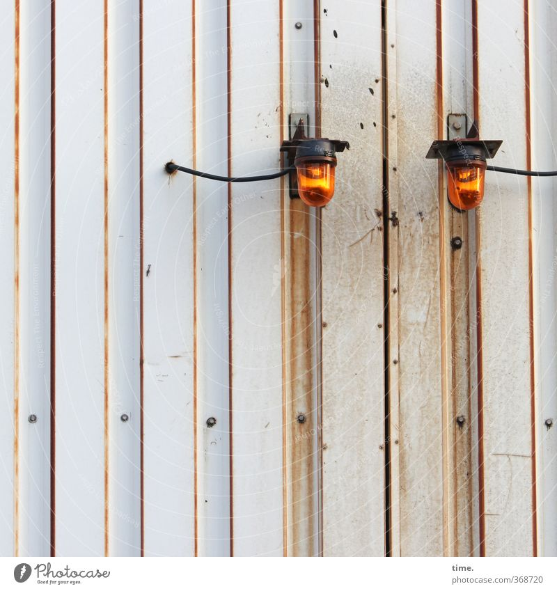 City Wall (building) Wall (barrier) Lighting Lamp Metal Orange Energy industry Technology Change Protection Serene Decline Rust Services Hang