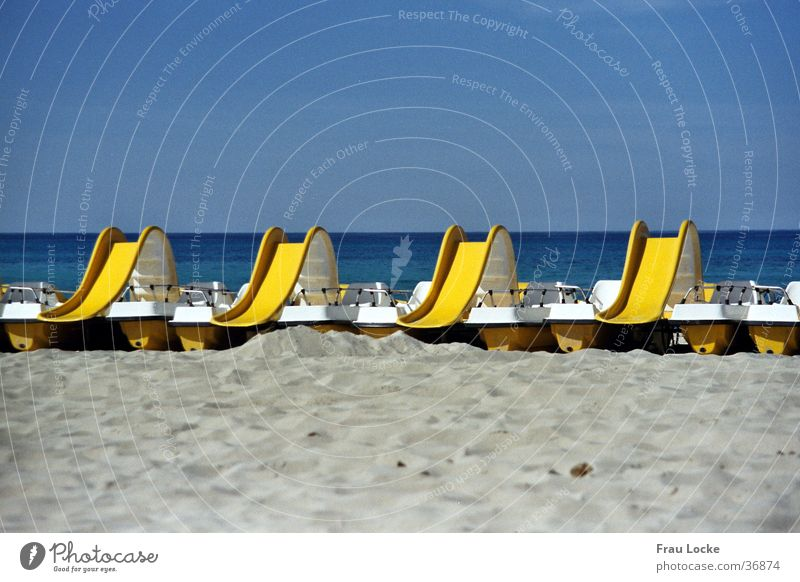 water slide Beach Slide Playing Vacation & Travel Ocean Water Sun Sand Joy