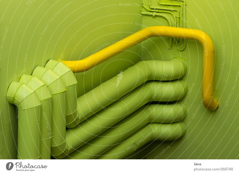 Green Yellow Wall (building) Building Pipe Transmission lines Conduit Provision