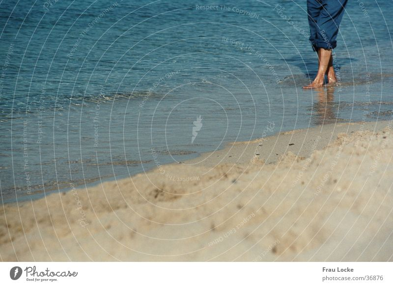 Human being Water Ocean Beach Vacation & Travel Relaxation Sand Barefoot