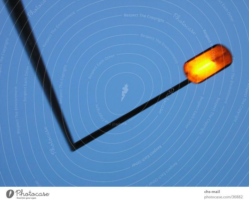 Sky Orange Industry Corner Lantern