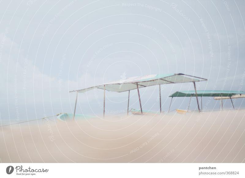 Sky Vacation & Travel Clouds Beach Sand Bright Watercraft Hut