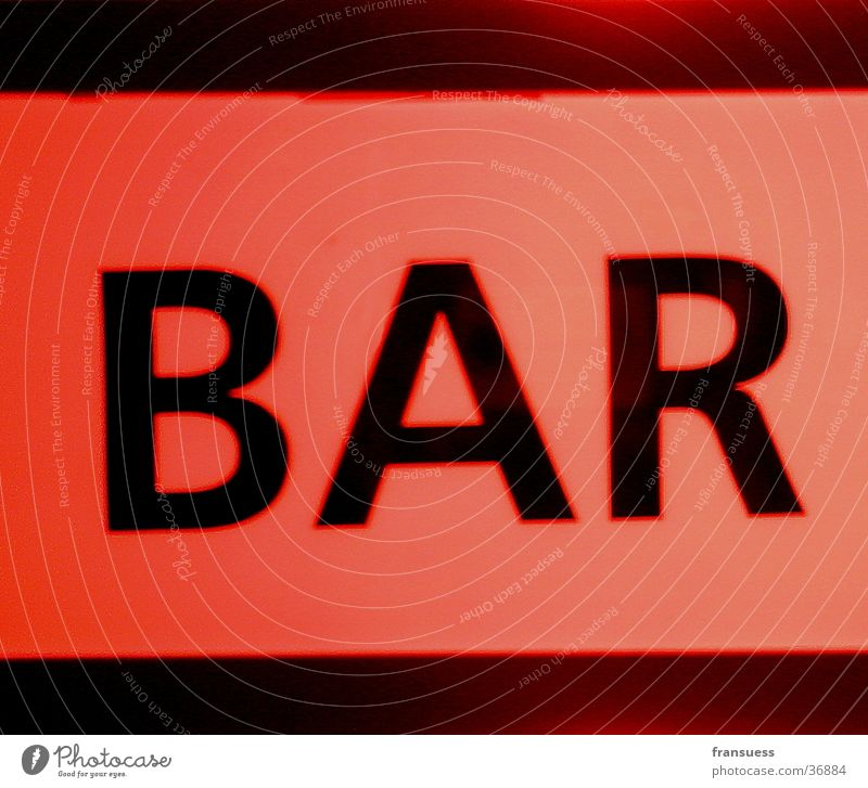Red Orange Signs and labeling Characters Bar Photographic technology