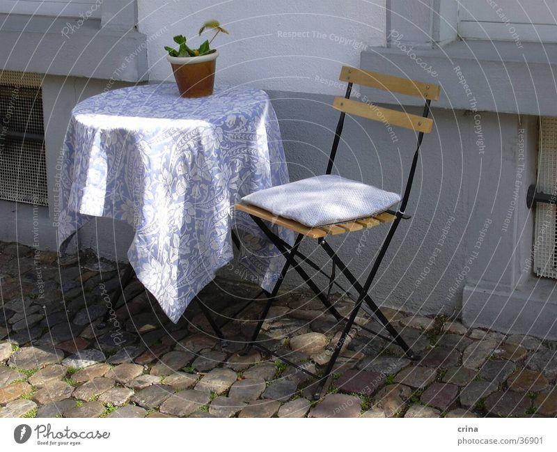 sunny idyll Table White Break Calm Leisure and hobbies Chair Sun Blue Idyll