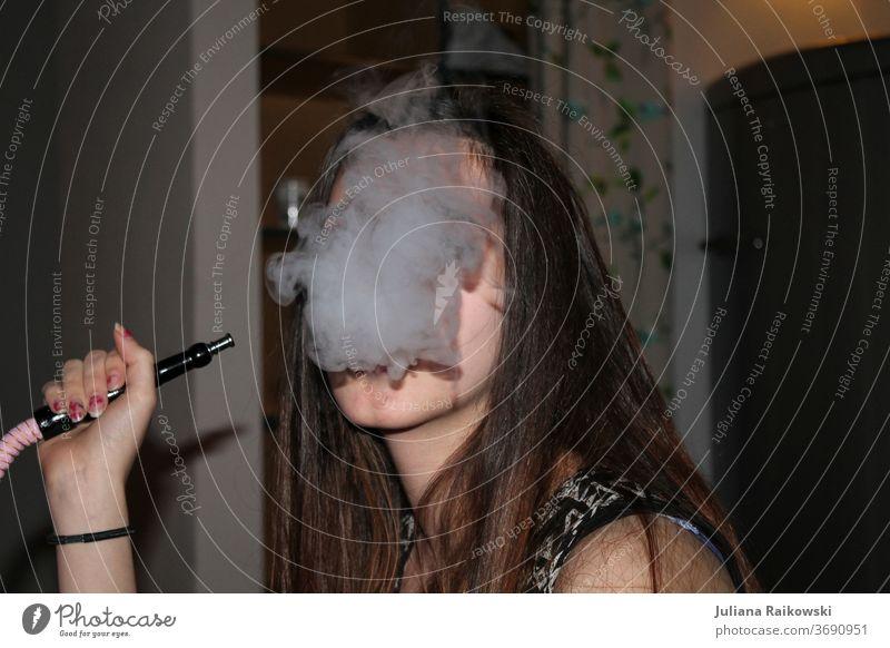 Woman smokes Shisha shisha smoke shisha Smoking Smoke Mouthpiece oriental Hookah Turkish Arab flavor Calabash Style Waterpipe Lounge Nicotine East Tobacco