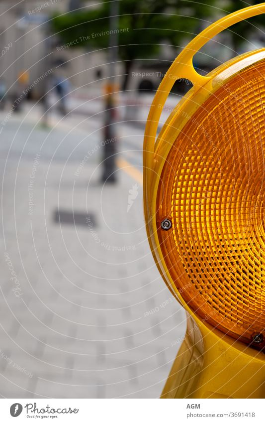 yellow warning light attention background Barricade Barrier Bright Business Caution City Closed Construction peril Detour Engineering Equipment Flash