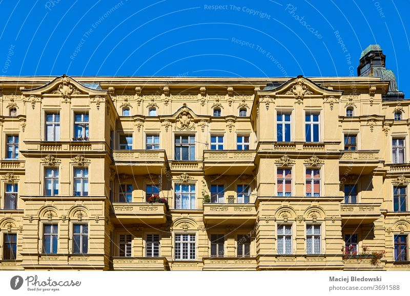 Old tenement house on Slaska Street in Szczecin, Poland. city Stettin building old residency architecture facade town sky summer sunny residential day Europe
