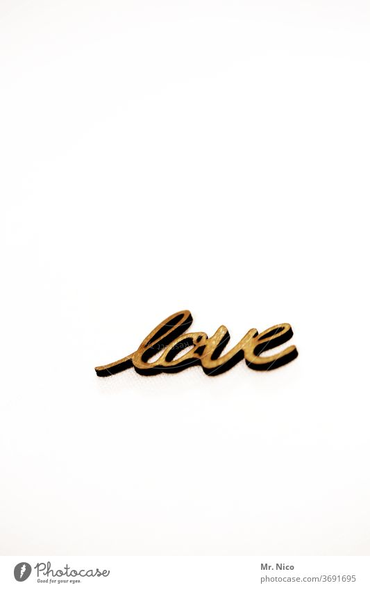 love Love Characters Emotions Letters (alphabet) Gold Yellow Romance Infatuation Display of affection With love Declaration of love Typography Wall (building)