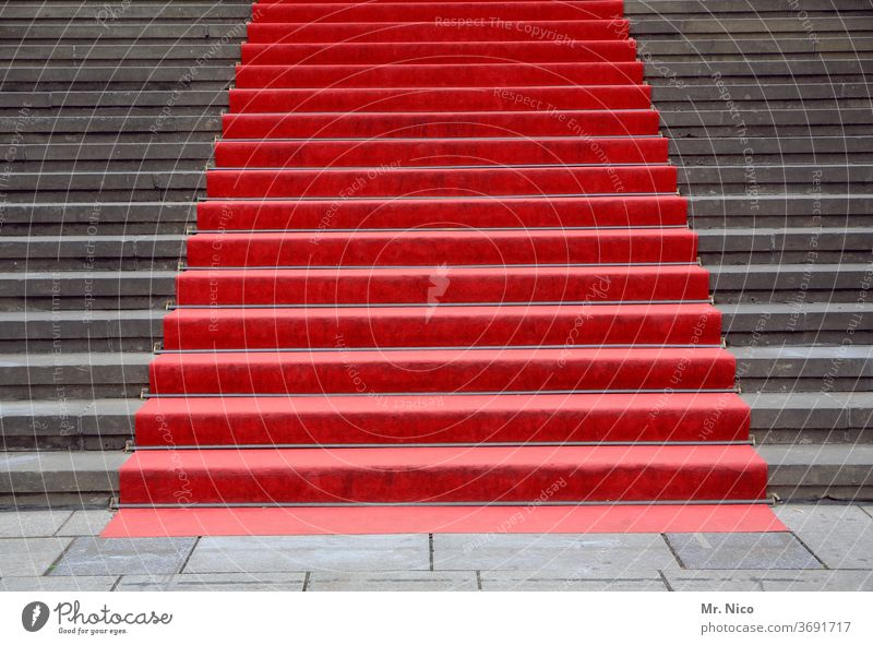 red carpet Stairs Red Gray Carpet Welcome Feasts & Celebrations Architecture Manmade structures Event Elegant Lifestyle Success Fame Politics and state Shows