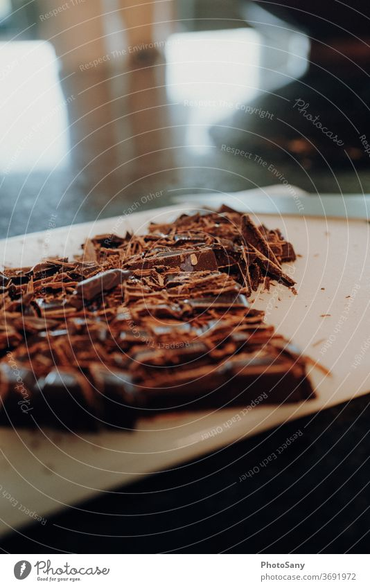bake it - one Food photograph food Chocolate Kitchen Baking Broken chocolate Wooden board