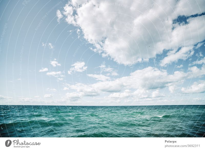 Turquoise water in a cold nordic sea turquoise bright season dramatic peaceful marine weather fresh natural cloudscape fishing scenic nature beautiful