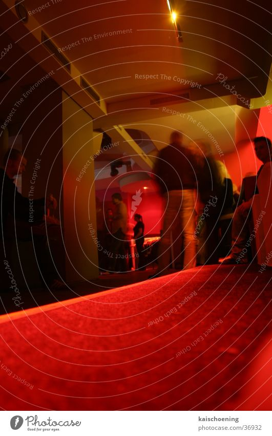 only for friends nightlife Friendship Bremen Club Red Tunnel Worm's-eye view Jetty Party nff Looking Schöning Corridor