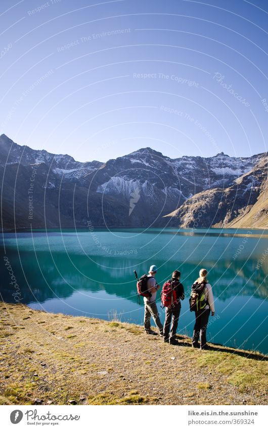 How about a hike tomorrow? Lifestyle Harmonious Well-being Leisure and hobbies Trip Adventure Far-off places Summer Summer vacation Mountain Hiking Climbing