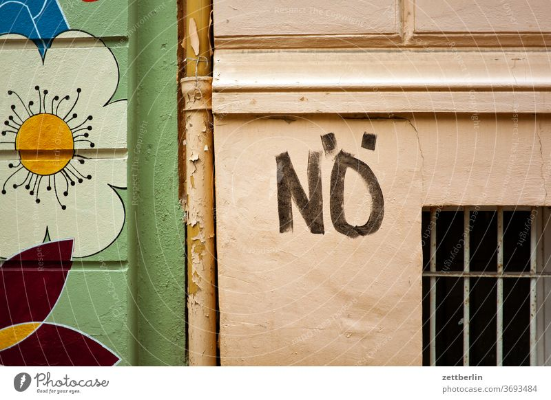 No. Lettering embassy Design Colour Graffiti graffiti Grafitto Wall (barrier) Message negation no writing tagg typo typography Vandalism Denial Wall (building)