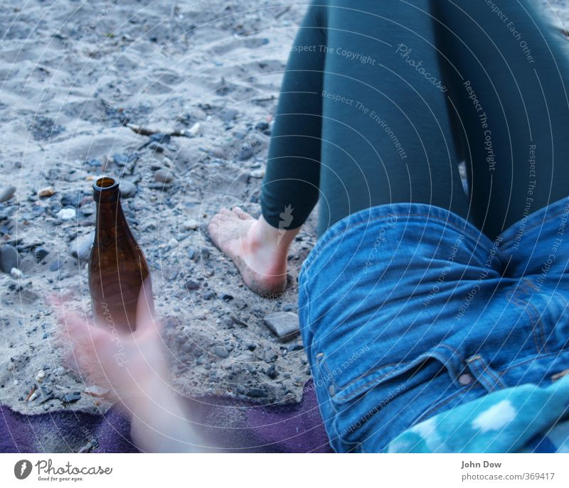 Iceland in the Sun Beach Feminine Young woman Youth (Young adults) Hand Legs Feet 1 Human being Hot pants Drinking Joy Happy Happiness Contentment Beer