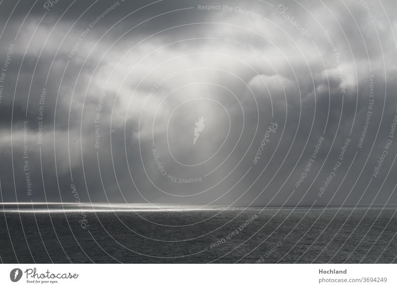 Sunbeam in the northern sea fight dark hope Noah loneliness nature game Thunderstorm Style Gerhard Richter Beam of light Sea Clouds Wind Sun sunbeam