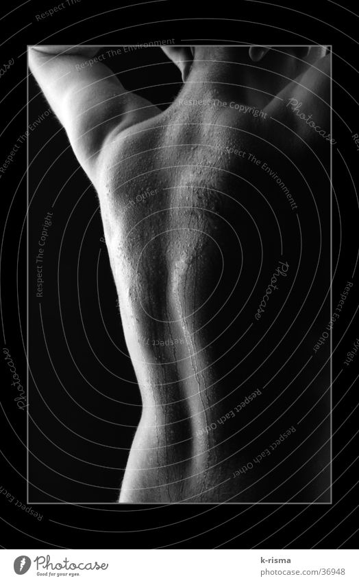 back Masculine Man Back Black & white photo Detail Frame