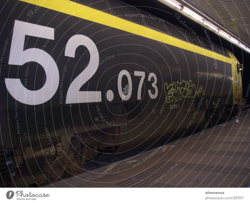 Transport Railroad Digits and numbers Typography Freight train