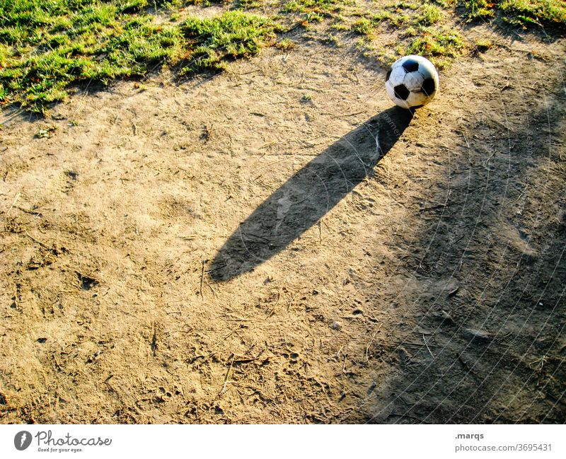 soccer Foot ball Shadow Hard court Leisure and hobbies Ball sports Football pitch amateur football field Sporting Complex Grass Playing field Sports Infancy