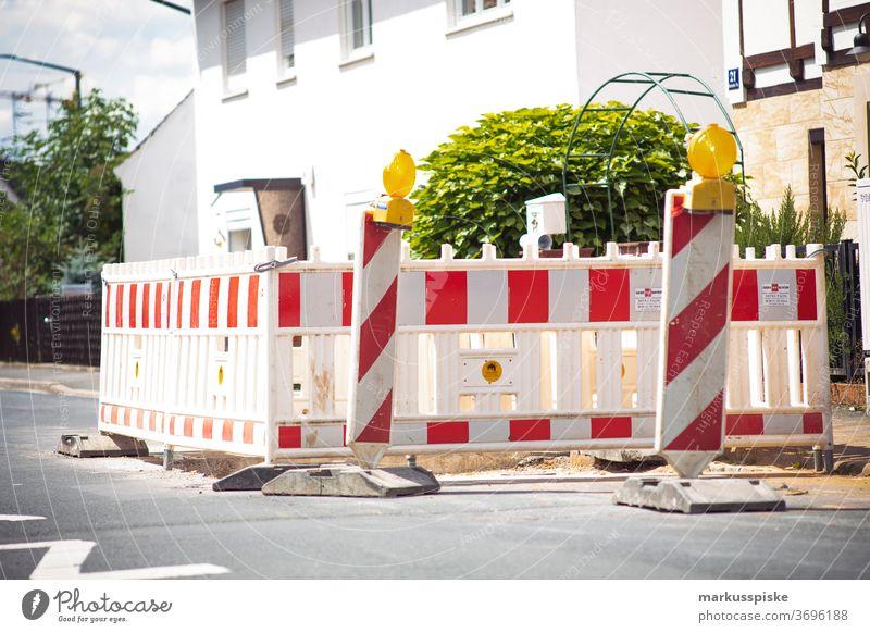 Construction site barrier cordon Roadblock Street blocking mark Repair Pylons Transport Traffic infrastructure Road sign